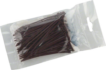 "Cobra Ties 4"" x 18lb (155 x 2.5mm) Miniature Zip Ties, Brown, Bag of 100"