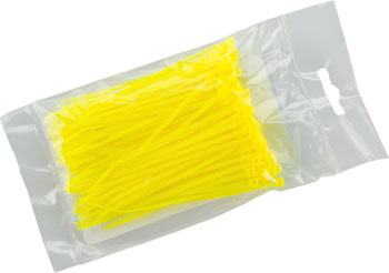 "Cobra Ties 6"" x 18lb (155 x 2.5mm) Miniature Zip Ties, Fluoresent Yellow, Bag of 100"