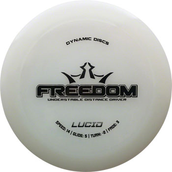 Dynamic Discs Freedom Lucid Golf Disc: Driver Assorted Colors