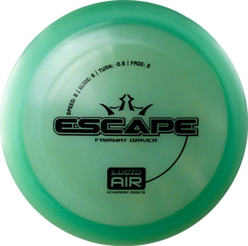 Dynamic Discs Escape Lucid Air Golf Disc: Fairway Driver Assorted Colors
