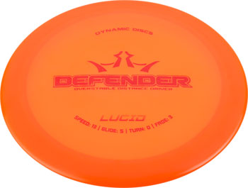 Dynamic Discs Defender Lucid Golf Disc Distance Driver: Assorted Colors