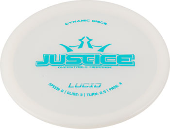 Dynamic Discs Justice Lucid Golf Disc Midrange: Assorted Colors