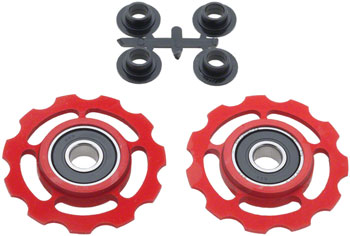 CeramicSpeed Pulley Wheels, Campagnolo 11 Speed Red