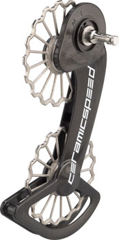CeramicSpeed Oversized Pulley Wheel System for SRAM eTap - 3D Printed Titanium Pulley, Coated Bearings, Carbon Cage, Ti