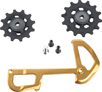 SRAM XX1 Eagle Ceramic Bearing Pulleys and Gold Inner Cage