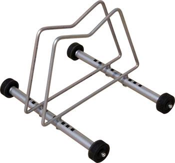 Gear Up Rack n Roll Single Bike Display/ Storage Rack: 1-Bike, Silver