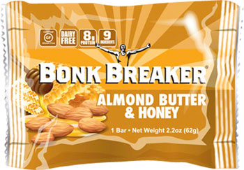 Bonk Breaker Energy Bar: Almond Butter and Honey, Box of 12