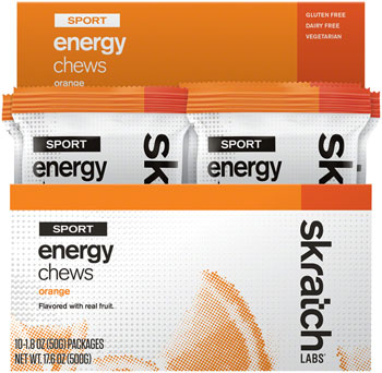Skratch Labs Sport Energy Chews: Orange, Box of 10