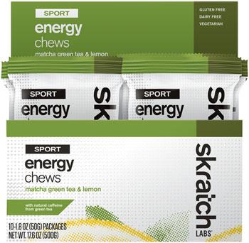 Skratch Labs Sport Energy Chews: Matcha Green Tea and Lemon, Box of 10