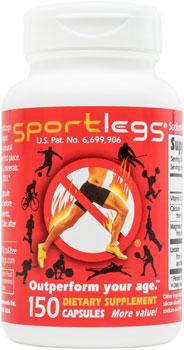 Sport Legs Nutritional Supplement: Bottle of 150 Capsules