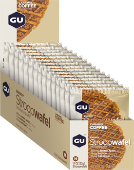 GU Stroopwafel: Caramel Coffee, Box of 16