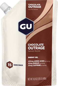 GU Energy Gel: Chocolate Outrage, 15 Serving Pouch