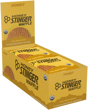 Honey Stinger Organic Waffle: Honey, Box of 16