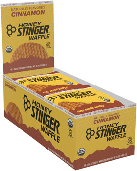 Honey Stinger Gluten Free Organic Waffle: Cinnamon, Box of 16