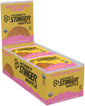 Honey Stinger Gluten Free Organic Waffle: Wildflower Honey, Box of 16