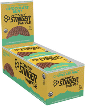 Honey Stinger Gluten Free Organic Waffle: Mint Chocolate, Box of 16