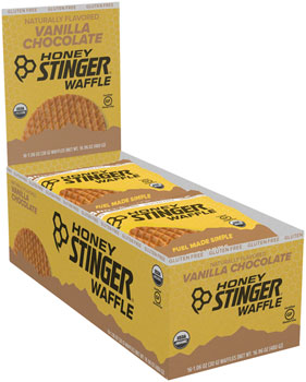 Honey Stinger Gluten Free Organic Waffle: Vanilla and Chocolate, Box of 16