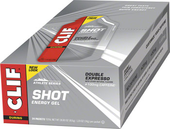 Clif Shot Gel: Double Espresso Turbo with Caffeine 24-Pack