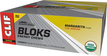 Clif Shot Bloks: Margarita with 3x Sodium Box of 18