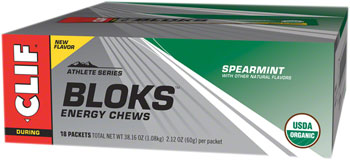 Clif Shot Bloks: Spearmint, Box of 18