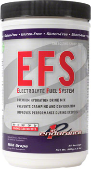 First Endurance EFS Drink Mix: Mild Grape 25 Serving Canister