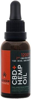 Seven Points CBD Tincture: Full Spectrum, 1200mg