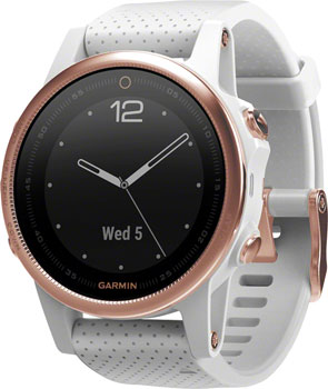 Garmin Fenix 5S Multisport GPS Watch: Rose Gold/White