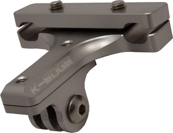 K-EDGE GO BIG Pro Saddle Rail Camera Mount for GoPro, Garmin and Shimano, Gunmetal