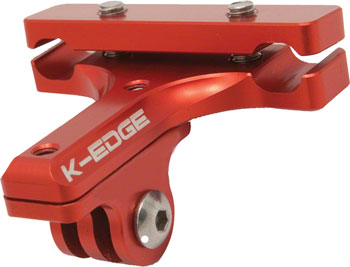 K-EDGE GO BIG Pro Saddle Rail Camera Mount for GoPro, Garmin and Shimano, Red