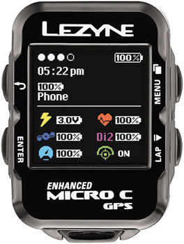 Lezyne Micro Color GPS Cycling Computer: Black