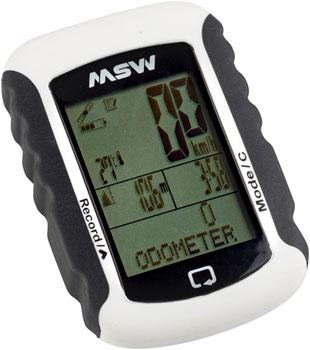 MSW Miniac 333 GPS BLE Bike Computer - GPS, Wireless, White