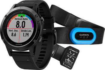 Garmin Fenix 5 Sapphire GPS Watch Performer Bundle: Black/Black