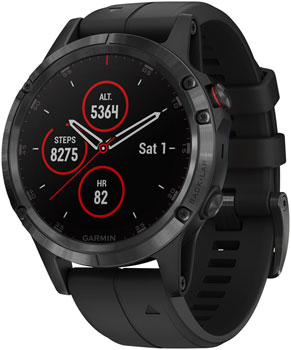 Garmin Fenix 5 Plus Sapphire GPS Watch: Black/Black