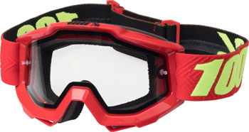 100% Accuri Enduro Goggle: Saarinen with Dual Pane Vented Clear Lens