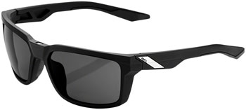100% Daze Sunglasses: Soft Tact Black Frame with Smoke Lens