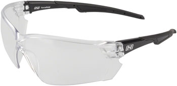 Optic Nerve Safety Glasses: Clear Lens, Black Frame