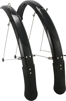 "Planet Bike Cascadia 29"" x 65 Fender Set: Black (29 x 1.5-2.0)"