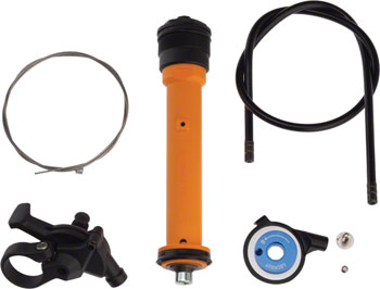 RockShox Remote Upgrade Kit, TurnKey 17mm, Includes Remote Compression Damper and PopLoc Remote Right, 2010-2015 Recon Silver