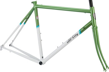 All-City Mr Pink Classic Frameset: 46cm, Green and White