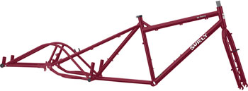 Surly Big Dummy Frameset: Large Dark Side of the Maroon