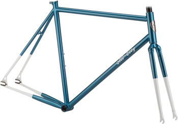 All-City 49cm Big Block Frameset Azure/White