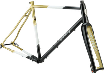 All-City Cosmic Stallion Frameset 46cm Black/White/Gold