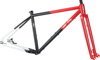 All-City Log Lady Frameset Only Small Red/Black/White