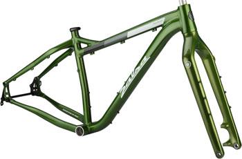 Salsa Blackborow Fat Bike Frame - Aluminum, Small, Green, 2016 version