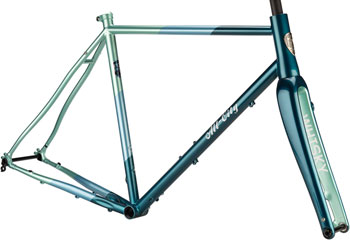 All-City Cosmic Stallion Frameset 61cm, Blue/Green Stripes