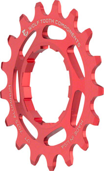 Wolf Tooth Single Speed Aluminum Cog: 17T, Compatible with 3/32