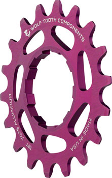 Wolf Tooth Single Speed Aluminum Cog: 18T, Compatible with 3/32