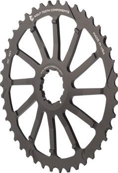 Wolf Tooth 42T GC cog for SRAM 11-36 10-speed Cassettes, Black