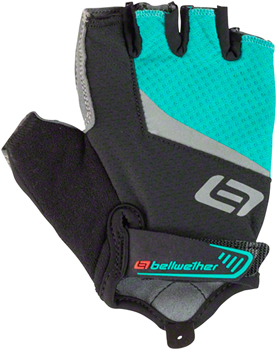 Bellwether Ergo Gel Gloves - Aqua, Short Finger, Women's, Medium