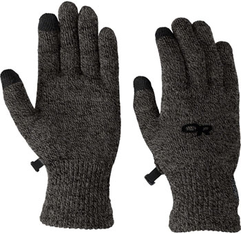 Outdoor Research Biosensor Liner Gloves - Charcoal, Full Finger, Women's, Medium